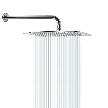 Amazon.com: Cabezal de ducha de 12 pulgadas con brazo de ...