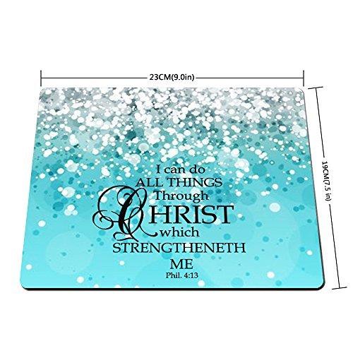 Custom Bible Verse Bliue Sparkles Glitter Pattern Design Mouse Pad