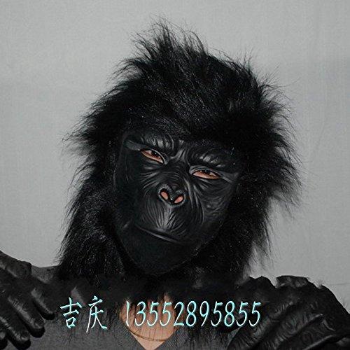 2476 NEW Rushed Hot Sale Mascaras Halloween Masquerade Masks Masquerade Supplies Mask of Terror - Latex Full Wigs Bag Gorilla (Mascaras De Halloween De Terror)