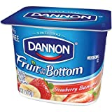 Dannon Fruit on the Bottom Strawberry Banana Yogurt, 6 Ounce - 12 per case.