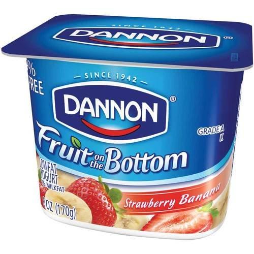 Dannon Fruit on the Bottom Strawberry Banana Yogurt, 6 Ounce -- 12 per case.