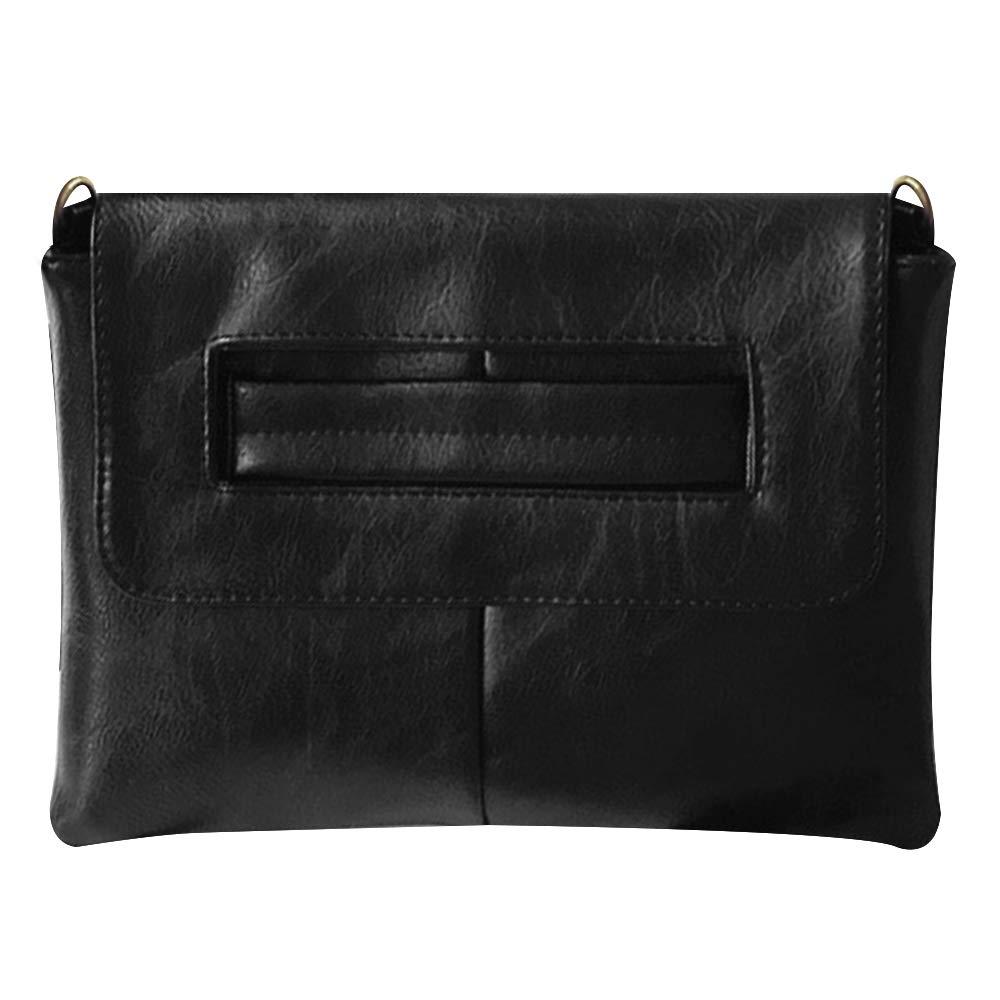 Monique Women Solid Color Handbag Large Envelope Clutch Adjustable Cross-body Bag Shoulder Bag