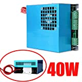 Iglobalbuy 40W AC 110V/220V Co2 Laser Power Supply for CO2 Laser Engraving Engraver Cutting Cutter Machine