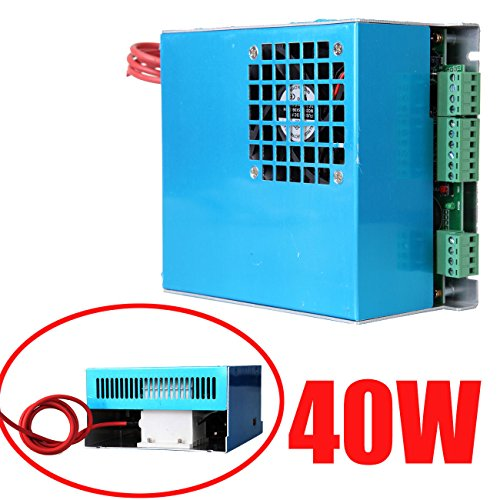Iglobalbuy 40W AC 110V/220V Co2 Laser Power Supply for CO2 Laser Engraving Engraver Cutting Cutter Machine by Iglobalbuy