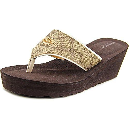 Coach Janice Leather Wedge Sandal