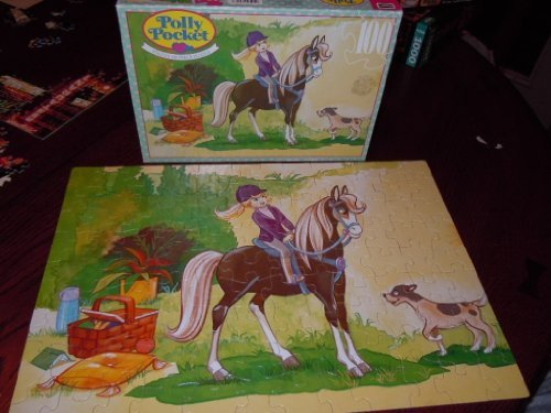 Vintage Polly Pocket 100 Piece Puzzle Pony Picnic