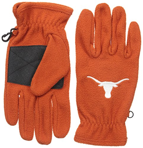 NCAA Texas Longhorns Men's '47 Fleece Gloves, Burnt Orange