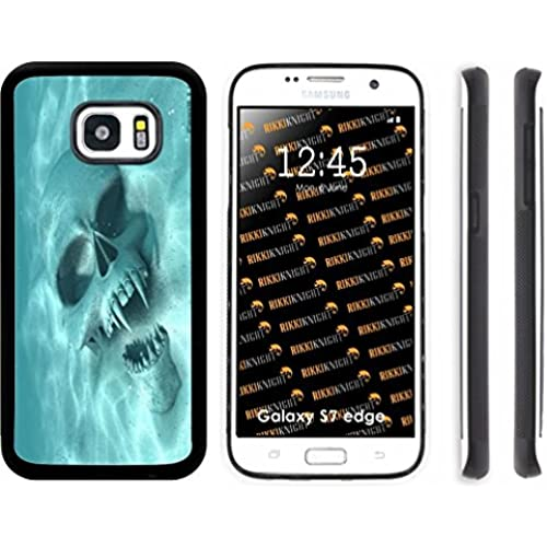 Rikki Knight Rikki Knight Halloween Werewolf Sunken Skull Design Samsung Galaxy S7 Edge Case Cover (Black Rubber Sales
