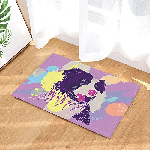 Cartoon Bath Rugs By NYMB, Watercolor Tig Dog Gorgeous Digital Printing, Non-Slip Doormat Floor Entryways Indoor Front Door Mat, Kids Bath Mat, 15.7x23.6in, Bathroom (Gorgeous Printing)
