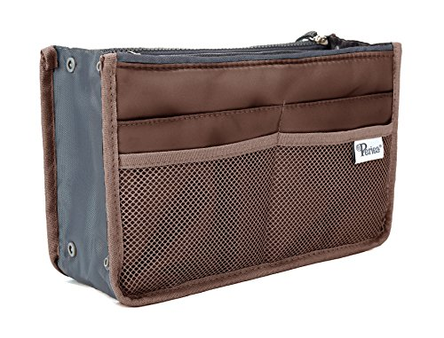 Periea Handbag Organizer - Chelsy (Medium, Brown)