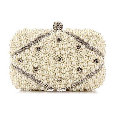 des zircon soirée sac de perles White mode de L'oxydation femme artificielles ZC6CU7