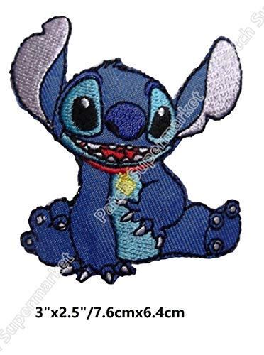 (Lilo & Character Sitting Cartoon Patch Patchwork Needlework Sewing Patches for Clothes Tv Movie Film Series Costume)
