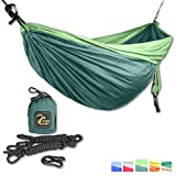DoubleEagle Parachute Silk Camping Hammock Set. We are passionate about developing the best outdoor equipment for smart people. We love sustainability: with every purchase you support your health and our planet: we contribute a share of our profit to...