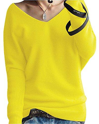 Womens Large Yellow Sweater