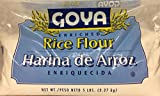 Goya Enriched Rice Flour Harina De Arroz 80 Oz. Pack Of 3.