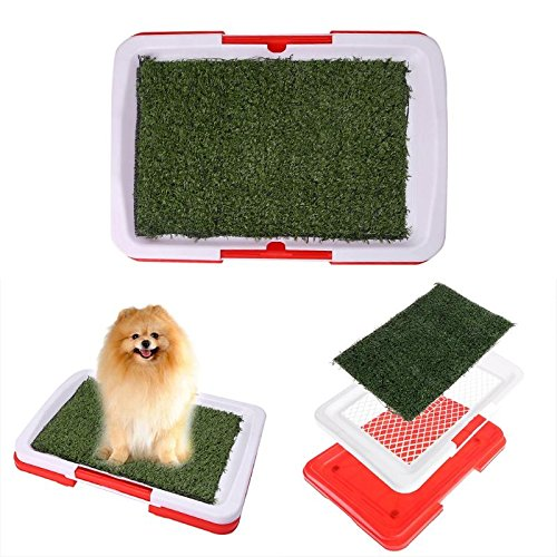 New Pet Dog Potty Toilet Urinary Trainer Grass Mat Pad Patch Indoor Outdoor Hom