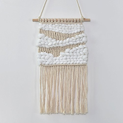 Samber Hand-knit Macrame Wall Hanging Tapestry Woven Craft Hanging Decor Handmade Macrame Tapestry Wall Decor Wedding Background Decoration Living Room Bedroom Decoration/H