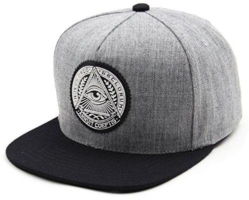 (sujii Illuminati Archetype Hip Hop Boys Snapback Hat Trucker Baseball Cap/Grey )