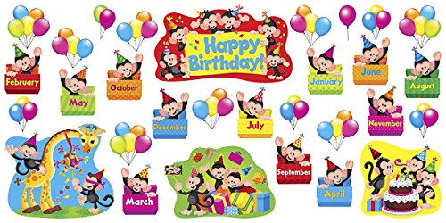 TREND enterprises, Inc. Monkey Mischief Birthday Bulletin Board Set
