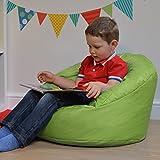 Hug Chair Kids Bean Bag - Indoor & Outdoor Bean Bag For Kids by Bean Bag Bazaar (Lime, Small)