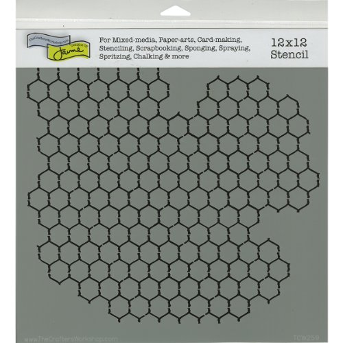 Crafters Workshop Framing Template, 12 by 12-Inch, Chicken Wire Reversed