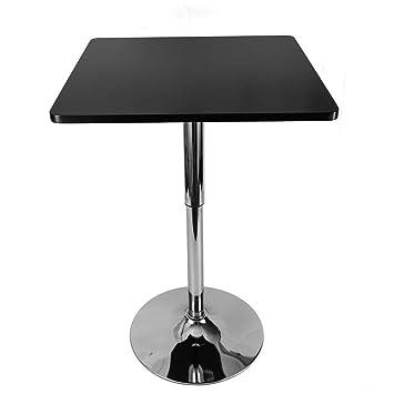 Xian Table de bistrot réglable, Petite Table carrée de Bistro Bar ...