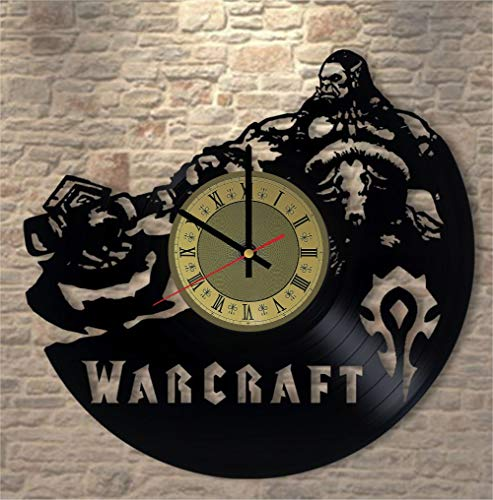 World of Warcraft Vinyl Clock | Dota 2 | Best Gift for Blizzard Fans | Gamer Room Wall Decor