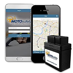 Best Car Tracking Device >> Amazon.com: MOTOsafety OBD GPS Tracker Device with 3G GPS Service Locator, Real-Time Teen ...