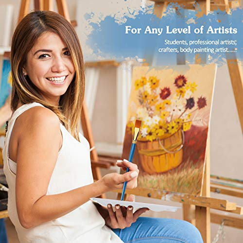 Acrylic /& Oil Paintings Clay Wood /& Model ATMOKO 14 Pieces Paint Brushes Ceramic Artist Paint Brushes Set include 2 Palettes for Watercolor Perfect for Painting Canvas