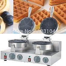 Double-head 110v 220v Electric Heart Waffle Maker Machine Baker Iron Mold