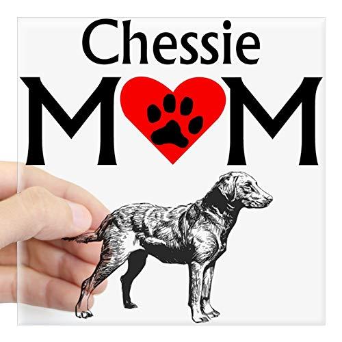 CafePress Chessie Mom Sticker Square Bumper Sticker Car Decal, 3