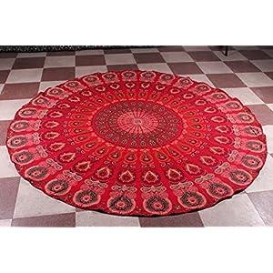 india redonda, hippie, toalla de playa para colgar en la pared, decoración bohemia poliéster Hippy | DeHippies.com