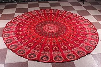 india redonda, hippie, toalla de playa para colgar en la pared, decoración bohemia poliéster Hippy: Amazon.es: Hogar