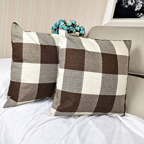 Dansfeng Buffalo Check Plaid Throw Pillow Case Cushion Cover