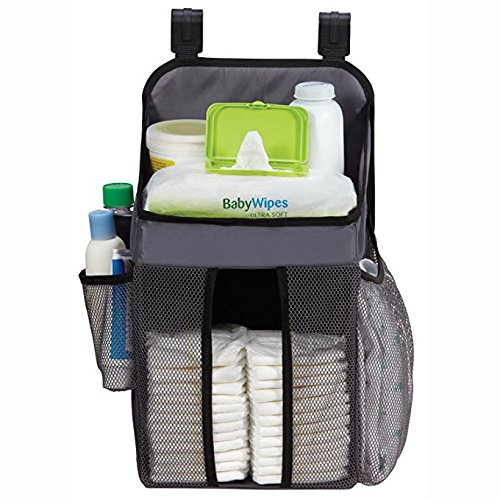Hanging Diaper Caddy   Fits all Playards   Stores Lotions, Wipes, Diapers   Nursery Organizer