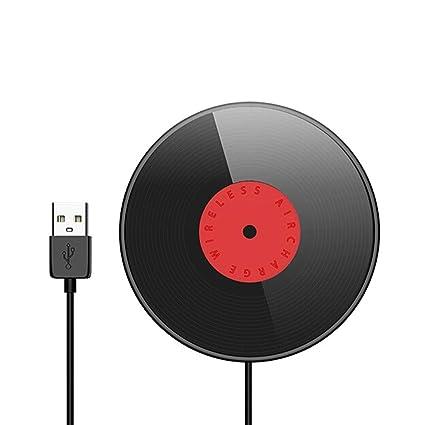 JU FU Apple Cargador inalámbrico Disco de Vinilo Base ...