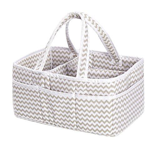 incarpo Baby Storage Basket Foldable Diaper Caddy Organiser Portable Large...