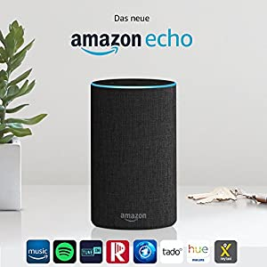 Das neue Amazon Echo (2. Generation), Anthrazit Stoff