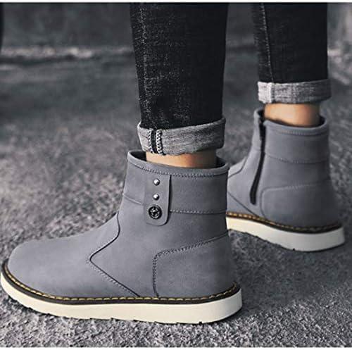 雪靴 ムートンブーツ メンズ スノーブーツ 裏起毛 ウィンターブーツ アウトドア 綿靴 防水 防滑 防寒靴 ショットブーツ インナークッション マーティンブーツ 裏ボア ハイキングブーツ 通勤