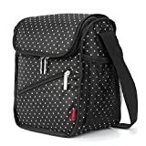 Amzbag Cooler Bag/S-size Lunch Bag/Leak-proof Cool Box Organizer/8L 12-Can For Travel/Picnic/Hiking (Black Dot) Review