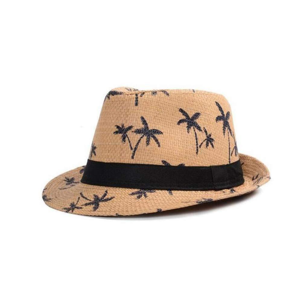 QEERT Chapeau Chapeaux De Paille D'été pour Enfants Adultes Enfants Panama Chapeau De Noix De Coco Arbre Jazz Caps Casual Plage Visor Sun Hat Parent-Enfant Cap