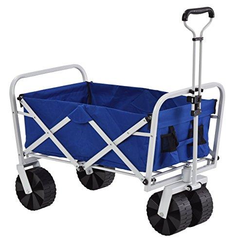 "Muscle Carts FBW3621-BLUE FBW3621-Bluecollapsible Folding Utility Wagon, Camo, 21"" Height, 25"" Width, 36"" Length"