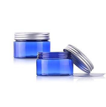 710ebb44fa78 Amazon.com: 2PCS Blue PET Plastic Refillable Empty Bottle Container ...