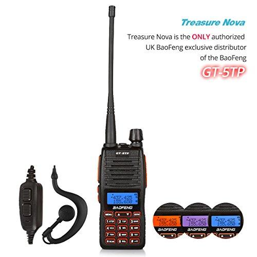 BaoFeng Pofung GT-5TP 8W/4W/1W Tri-Power UHF VHF Dual Band Amateur Ham...