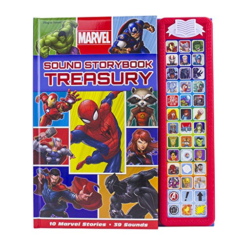 Marvel Superhero Sound Storybook Treasury- Includes Characters from Avengers Endgame - Play-a-Sound - PI Kids for $<!--$18.87-->