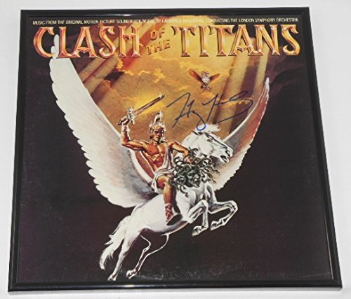 Autographed Record - Clash of the Titans Harry Hamlin Signed Autographed Original Motion Picture Soundtrack Lp Record Album with Vinyl Framed Loa