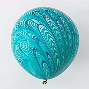 Green 18 inch Marbleized Balloons