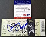 Adrian Gonzalez Chris Young Doug Brocail Autographed Signed Auto Padres Ticket PSA/DNA