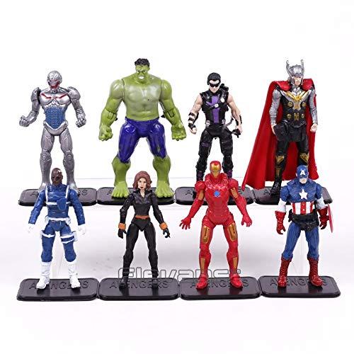 WEKIPP Man Quicksilver PVC Figure Toys 8Pcs/Set -Multicolor Complete Series Merchandise