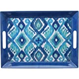 Better Homes and Gardens Ikat Large Rectangle Tray, Blue
